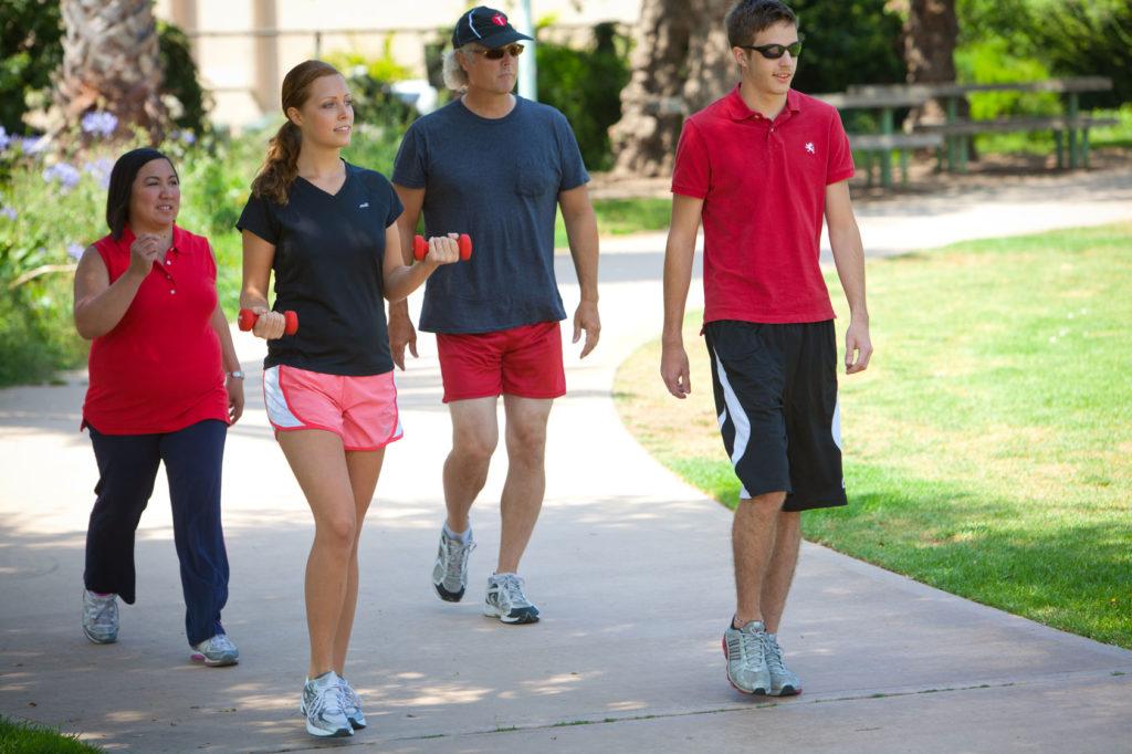 Group walking for better fitness
